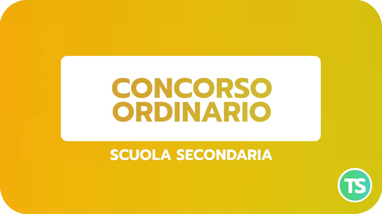 CONCORSO ORDINARIO secondaria