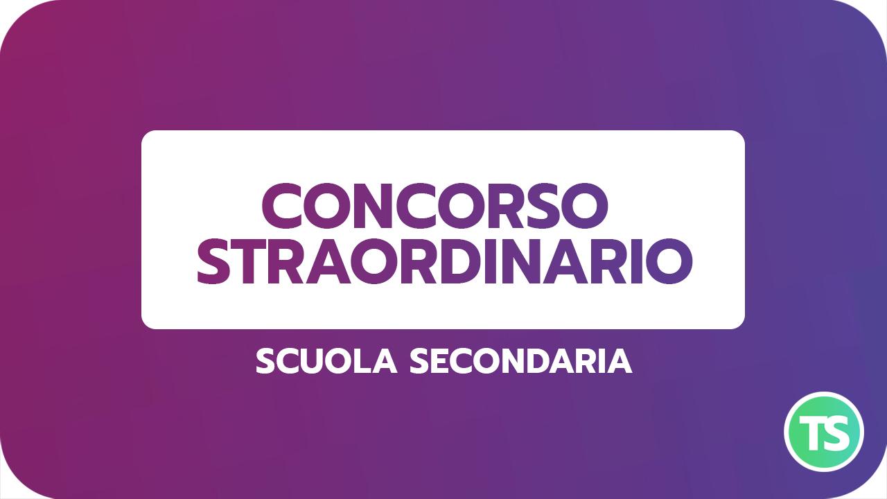 CONCORSO STRAORDINARIO secondaria