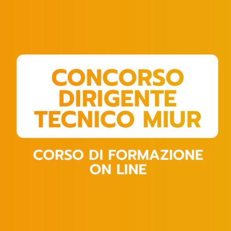 CONCORSO DIRIGENTE TECNICO MIUR