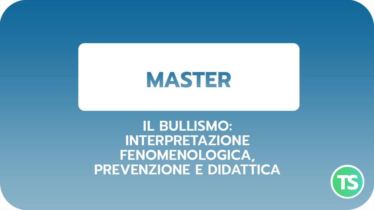 Master-Bullismo