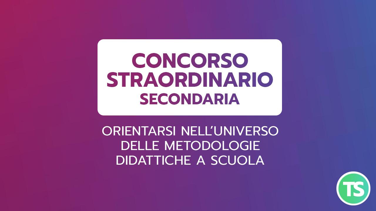 Morello-STRAORDINARIO-SECONDARIA_METODOLOGIE DIDATTICHE